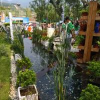 Wasser spielt eine große Rolle bei dieser IGA. Auf dem Mannheimer Areal fließen symbolisch Rhein und Neckar.