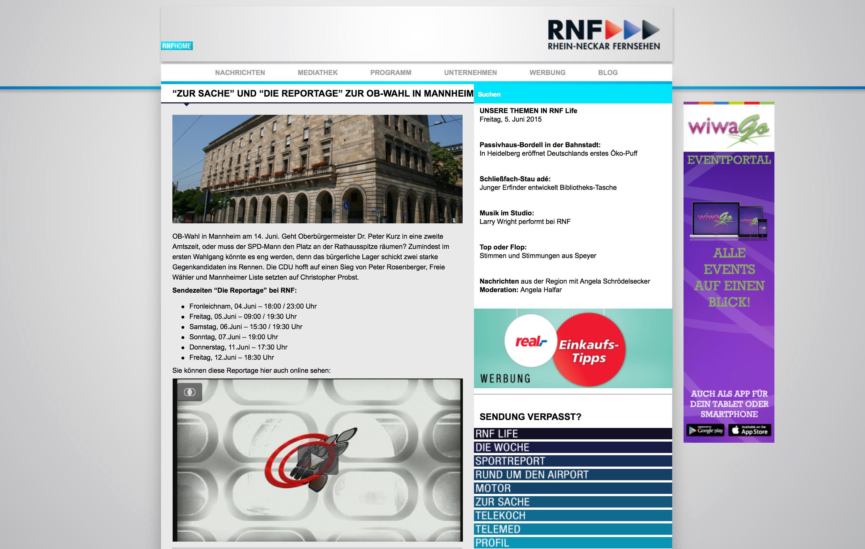 Wen wählen? Entscheidungshilfen zur Mannheimer OB-Wahl bei RNF – 25 ...